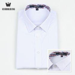 교복 남자셔츠[화이트] 유니크 체크
