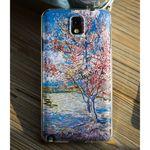 LG Q6 명화케이스 꽃핀 복숭아나무 초고퀄리티