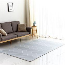 북유럽 디자인 헤이미쉬 양면 놀이방 거실매트 M