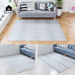 북유럽 디자인 헤이미쉬 양면 놀이방 거실매트 L