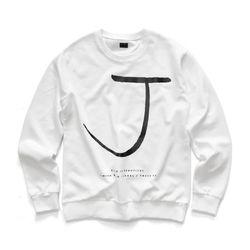 [지미코브리코] jb crown j sweatshirt white 맨투맨