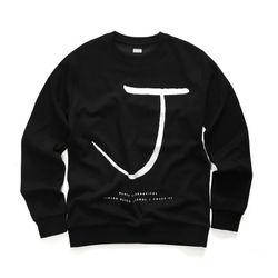 [지미코브리코] jb crown j sweatshirt black 맨투맨