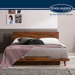 바우 멀바우 평상형 침대(E호텔양모라텍스7존독립 Q)