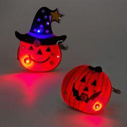 LED점등 호박플래시라이트 모자쓴펌프킨 2종 10개세트