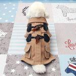 [펫딘]떡볶이 코트 버튼 강아지옷 아우터 브라운