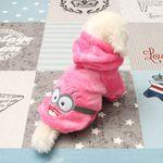 [펫딘]큐티 안경 후드 강아지옷 핑크