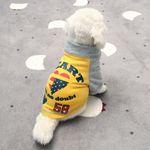 [펫딘]별 하트 래글런 배색 강아지옷 티셔츠