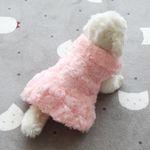 [펫딘]보슬 보슬 소프트 강아지옷 원피스 핑크