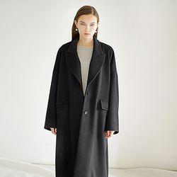 Ca sh mere Long Coat - Black