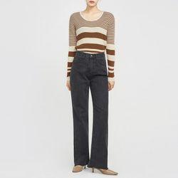 blackish long high pants