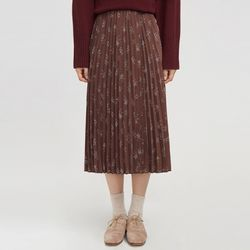 from flower pleats skirt