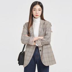 FRESH A basic check jacket