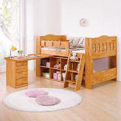 비토니 엘다원목 벙커 침대-책상포함