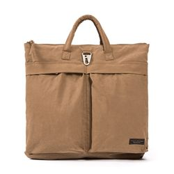 WAXED HELMET BAG (brown)