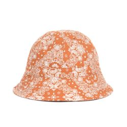 PAISLEY BUCKET HAT (orange)