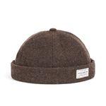 WOOL BRIMLESS CAP (brown)