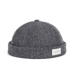 WOOL BRIMLESS CAP (grey)