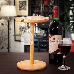빈티지 대나무 와인잔 걸이 1개
