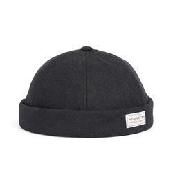 WOOL BRIMLESS CAP (black)