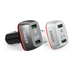 ANKER 퀵차지 3.0 2포트 차량용 고속충전기