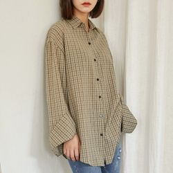 [로코식스] soft color boxy check shirts셔츠