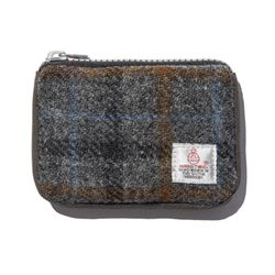 HARRIS TWEED CARD ZIP WALLET - GREY2