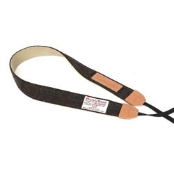 HARRIS TWEED CAMERA STRAP - D.BROWN