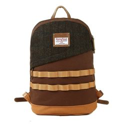 HARRIS TWEED DAYPACK - BROWN