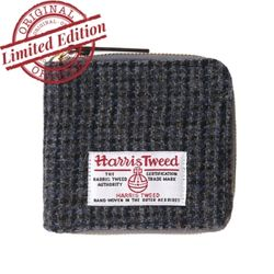 HARRIS TWEED WALLET - GREY