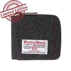 HARRIS TWEED WALLET - BLACK