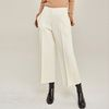 PINTUCK WIDE ANKLE PANTS (IVORY)