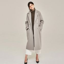 AWESOME WOOL DOUBLE LONG COAT (GRAY)