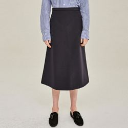 POINTED ZIPPER LINE SKIRT (NAVY)