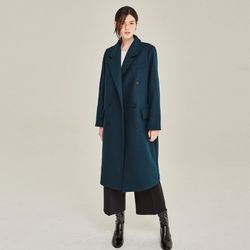 GLAMOUR WOOL DOUBLE COAT (BLUE GREEN)