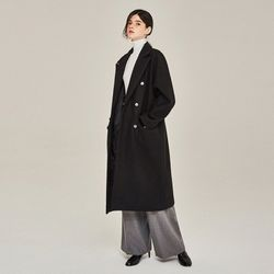 AWESOME WOOL DOUBLE LONG COAT (BLACK)