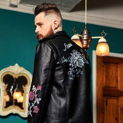 UNISEX Painting Rider Jacket Rose