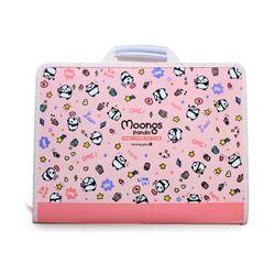 4500 패턴 손잡이 지퍼 화일케이스(핑크)