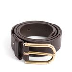 CLASSIC LEATHER BELT (dark brown)