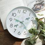 북유럽 라운드 저소음벽시계(민트)