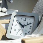 북유럽 스퀘어 저소음벽시계(그레이)