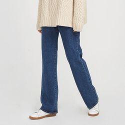 slim wide under denim pants