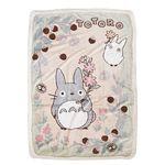 토토로 뽀글이 담요(나뭇잎 100X140)