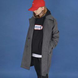프리미엄 오버 싱글 코트 (gray)