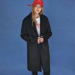 프리미엄 오버 싱글 코트 (black)