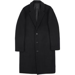 RF3B OVERSIZED WOOL COAT BLACK