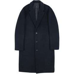 RF3B OVERSIZED WOOL COAT NAVY