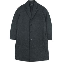 RF3B OVERSIZED WOOL COAT CHARCOAL