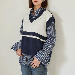 line knit vest조끼