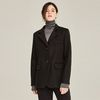 MODERN WOOL HALF COAT (BLACK)
