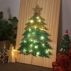 크리스마스 트리 스트링아트 (우드LED)